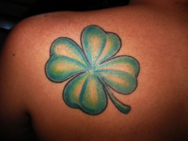 Simple irish clover tattoo