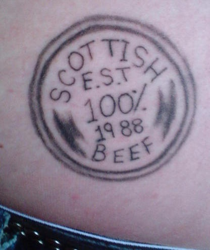 Beef butt tattoo