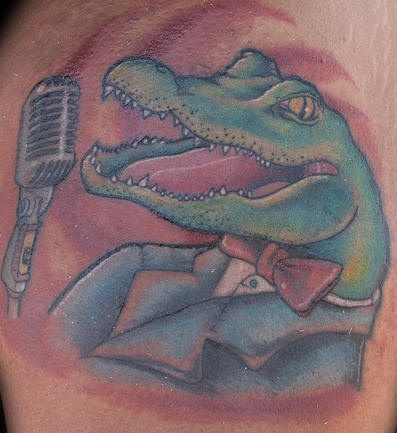 Crocodile classic singer tattoo