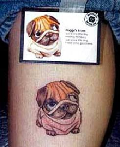 Cute bulldog tattoo from picture