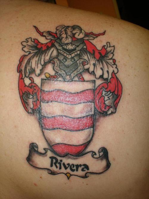 Rivera family crest tattoo