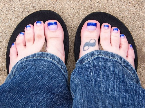 Small Infinity tattoo on toe