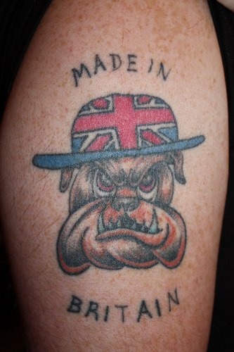 Made in britain bulldog tattoo