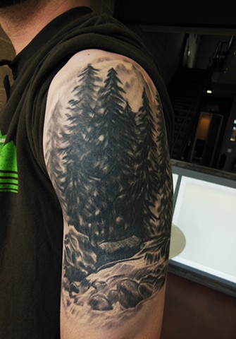 pine tree tattoo photo