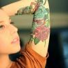 Inner arm tattoos