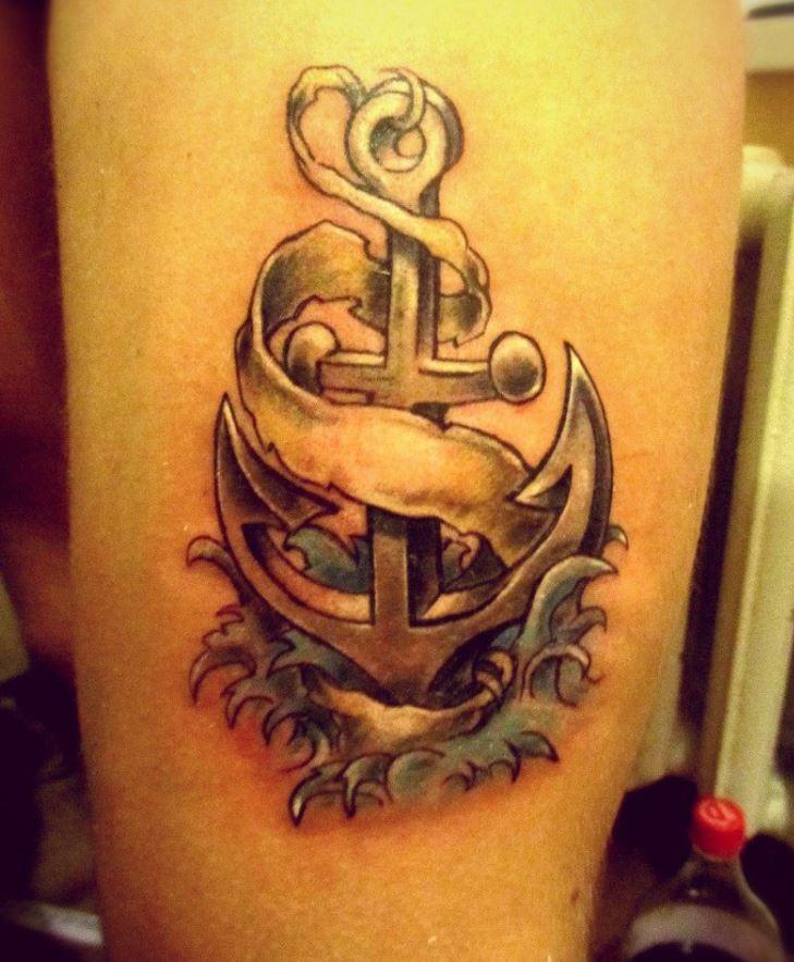 3d realistic anchor tattoo - Tattooimages.biz