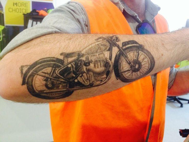 3d realistic biker forearm tattoo