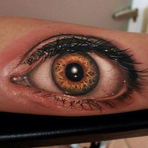 Tatuaggio 3D sulla mano l&quotocchio