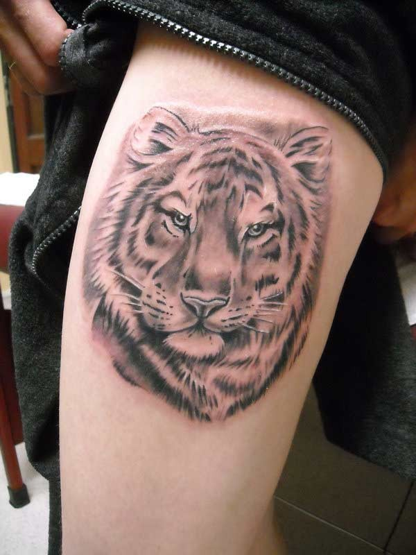 3d tiger head tattoo meaning