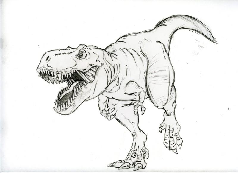 Рисунок динозавра рекса