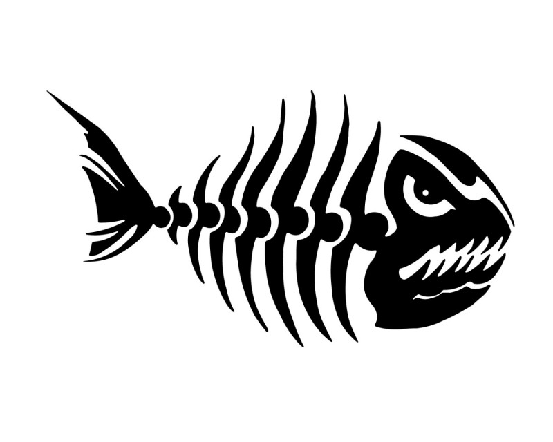how to make a 3d fish skeleton