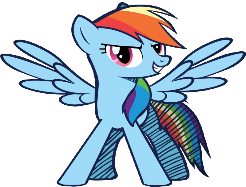 Angry ginger pegasus with a rainbow tail tattoo design by Galaxy Art