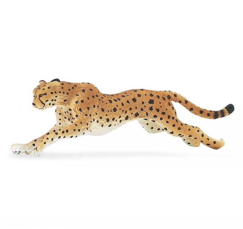 Animated colored running cheetah tattoo design