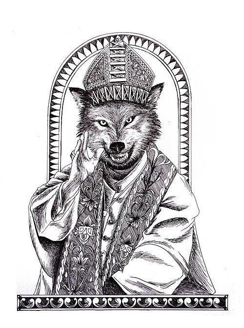 http://tattooimages.biz/images/gallery/Audacious_black-and-white_wolf_prist_tattoo_design.jpg