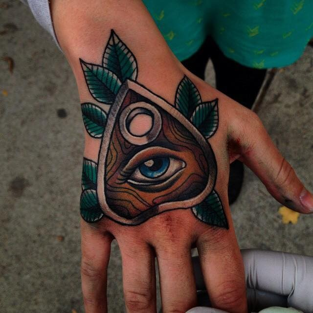 Awesome american classic all seeing eye tattoo on arm