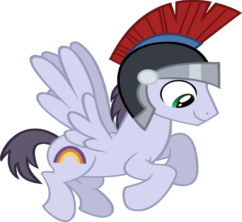 Awesome cartoon pegasus warrior in a helmet tattoo design by Timeimpact