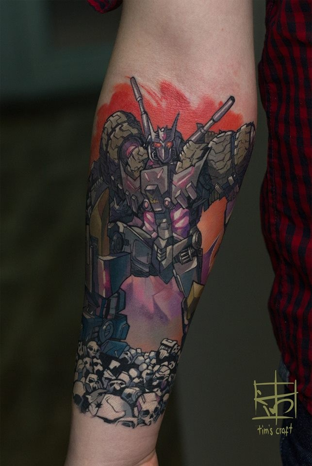 Awesome decepticon from transformers anime tattoo