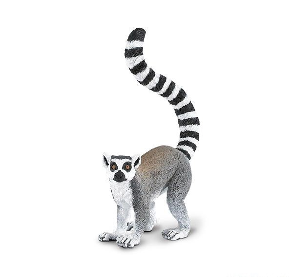 Awesome orange-eyed lemur figure tattoo design