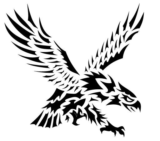 Awesome tribal screaming eagle tattoo design