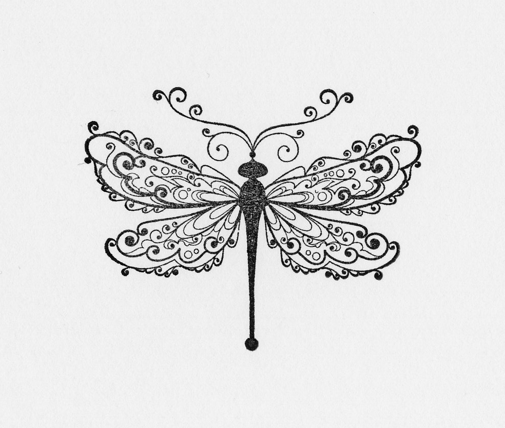 Beautiful Dragonfly With Lacy Wings Tattoo Design Tattooimages Biz