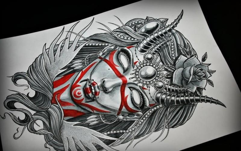 Эскизы тату в стиле готики
