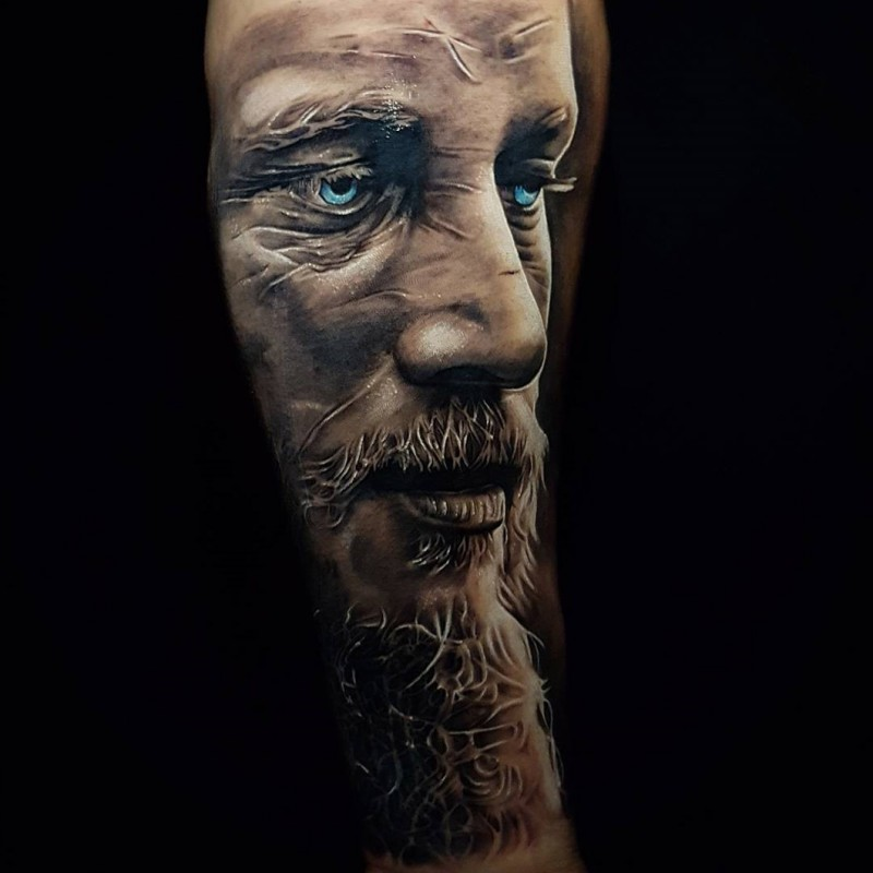 Beautiful mens forearm tattoo by Benji Roketlauncha