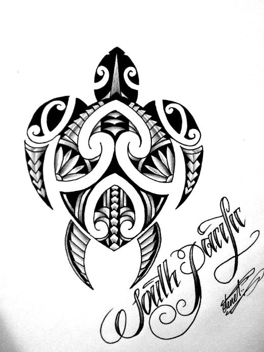 beautiful polynesian turtle tattoo design. Black Bedroom Furniture Sets. Home Design Ideas