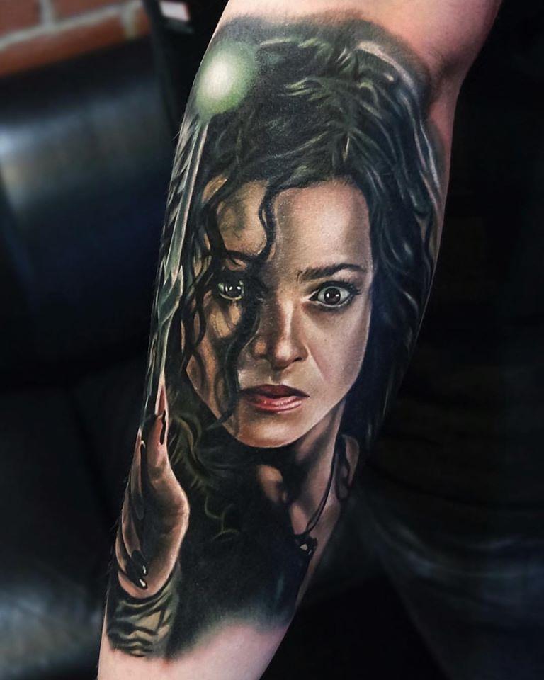 Bellatrix LeStrange from Harry Potter tattoo