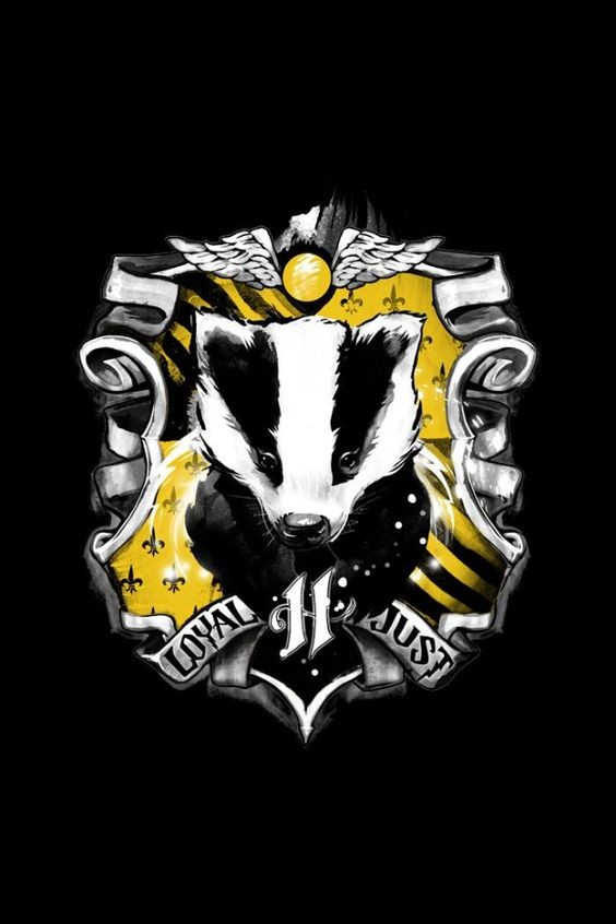 Black-and-yellow coat of arms with rodent head tattoo design