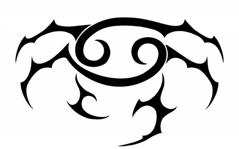 513873ec0 Black-ink tribal zodiac crab tattoo design - Tattooimages.biz