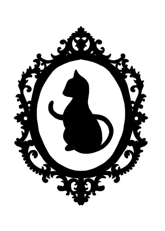 Black Cat Silhouette In Black Frame Tattoo Design Tattooimages Biz