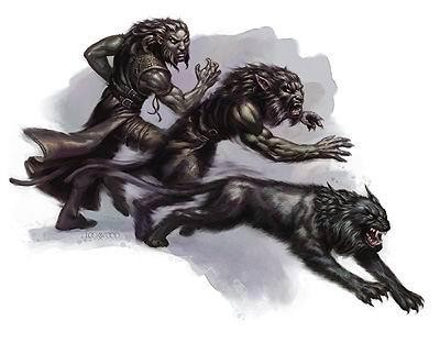 Black man turning into the werewolf on blue smoke background tattoo design