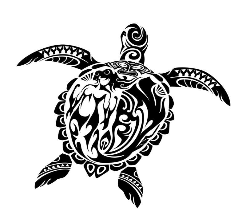 black polynesian turtle tattoo design. Black Bedroom Furniture Sets. Home Design Ideas