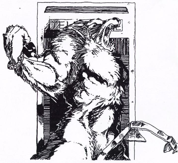 Black strong muscular werewolf on dark background tattoo design