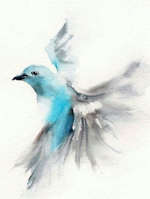 blueandgrey flying bird tattoo design tattooimagesbiz
