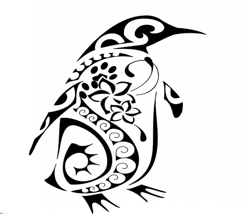 Penguin Tribal Tattoo Designs