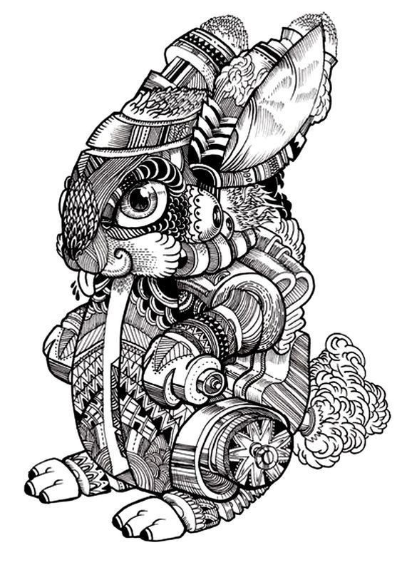 Bonny rich-decorated rodent baby tattoo design
