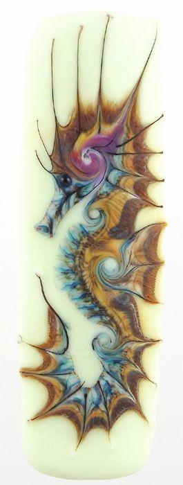 Breathtaking colorful seahorse tattoo design