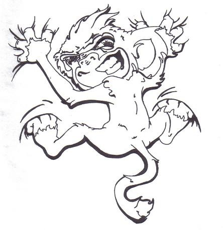 76555eb47275c Climbing outline monkey tattoo design - Tattooimages.biz