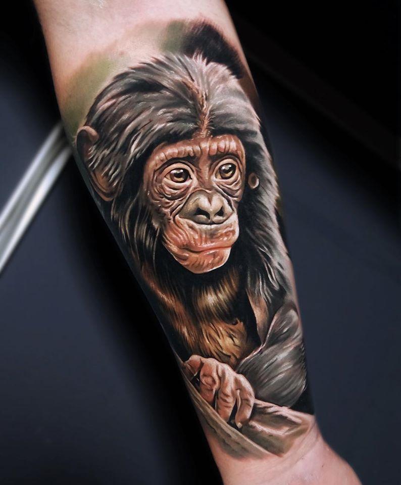 Cool Baby Chimpanse tattoo