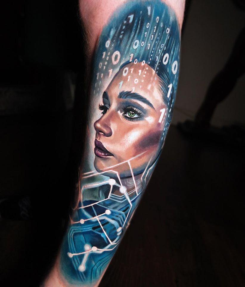 Cool Digital Bath tattoo on wrist