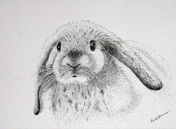 Cool dotwork rabbit muzzle tattoo design