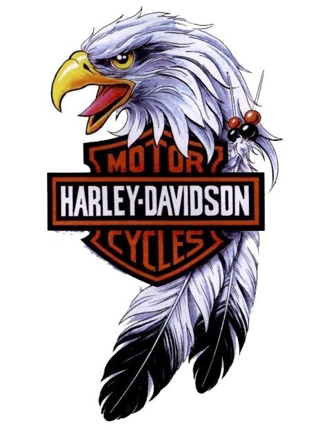 Cool harley davidson eagle tattoo design