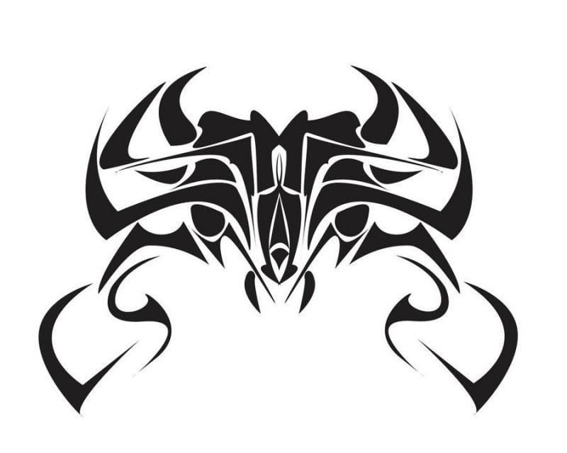 Cool harsh tribal crab tattoo design