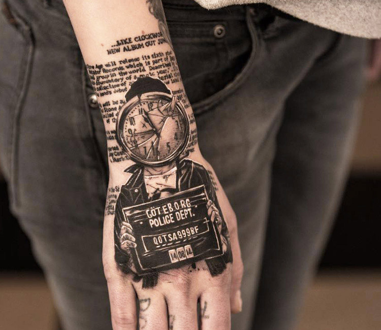Cool idea of prisoner tattoo by Niki Norberg