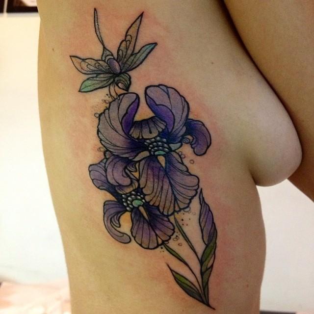 Cool pretty violet iri...