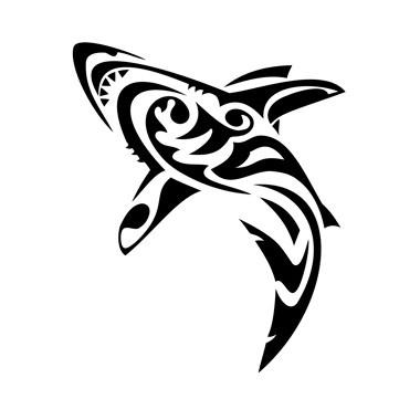Cool tribal jumping water animal tattoo design