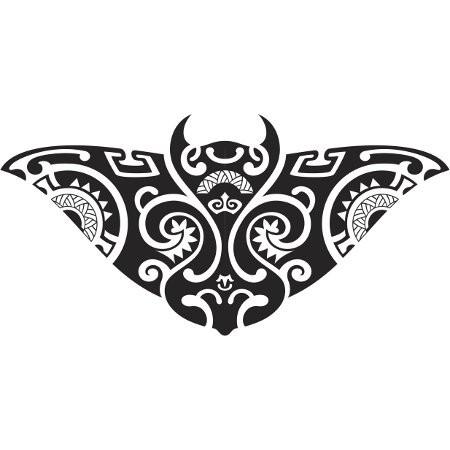 Cool tribal stingray water animal tattoo design