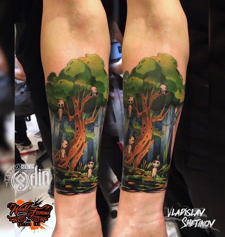 Tatuaggio stile cartoon creativo sull&quotavambraccio