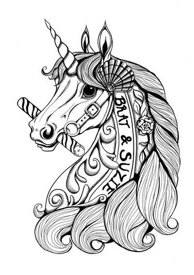 coloring pages unicorns rainbows flowers - photo#23